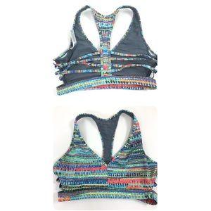 Victoria's Secret colorful strappy bra. Size Small